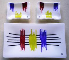 White Sushi Set - by Ilene Goldman Designs. Delphi Artist Gallery