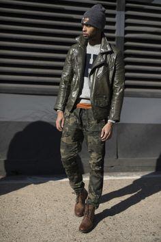 New York. Street Style. Via TheImpression.com  menswear mnswr mens style mens fashion fashion style streetstyle