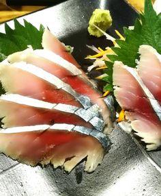 Sashimi vinegared mackerel