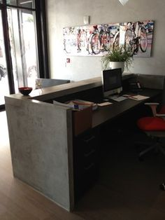 Office Reception Desk Design Ideas, Pictures, Remodel and Decor
