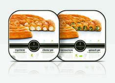 Αποτέλεσμα εικόνας για spanakopita packaging Spinach Pie, Spanakopita, Packaging, Pasta Cheese, Wrapping