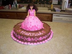 Barbie Cake - Sorry no recipe, just the picture of the cake.
