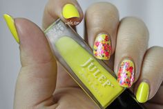Fun With Neons: Julep's Abbie and Blue-Eyed Girl Lacquer's Watch the Walls