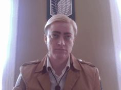Erwin's had enough of your bullshit. (This is the best Erwin cosplay I've seen)