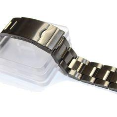 20мм Ницца черная сталь Цвет Нержавеющая сталь Unisex Часы группы Ремни WB1066B20SB