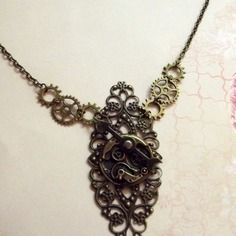Collier Steampunk - necklace.