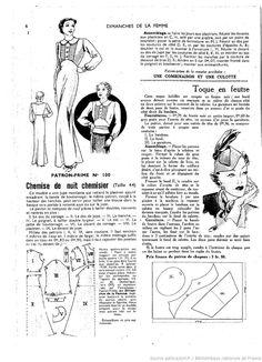 Les Dimanches de la Femme 1938 blouse or gown