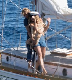 Mamma mia! The British beauty, who plays a younger version of Meryl Streep' s central character Donna Sheridan, put on a playful display with Josh, who plays love Bill Anderson - a role originally filled by Stellan Skarsgard