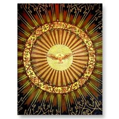 """Holy Spirit painting Postcards. Prices start at $00.80 in bulk! There are an """"infinite"""" number of these fully customizable items still available, and this design is available on a whole host of other products too!"""