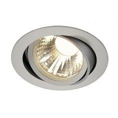 NEW TRIA LED DISK, Deckeneinbauring, rund, silbergrau, 2700K, 35° / LED24-LED Shop