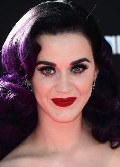 Katy Perry hair and makeup
