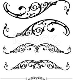 Scroll and ruleline design royalty-free stock vector art