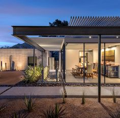The Construction Zone has completed a house in Arizona's Sonoran desert, taking full advantage of the arid climate with living spaces both inside and out.
