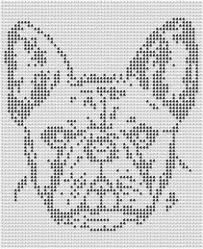 french bulldog patterns - cross stick