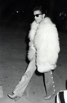The musician Prince was known for his influential style, including his choice of footwear.