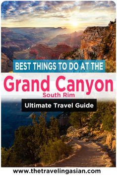The Grand Canyon is one of the most beautiful places in the entire world. And one of the most popular places at the Grand Canyon is the South Rim. There are so many things for you to see and do here. Here are the best things for you to do at the Grand Canyon South Rim. #Arizona #GrandCanyon #Travel #Canyon Grand Canyon Village, Grand Canyon South Rim, Arizona Travel, Hawaii Travel, Cool Places To Visit, Places To Travel, Travel Guides, Travel Tips, Bright Angel Trail