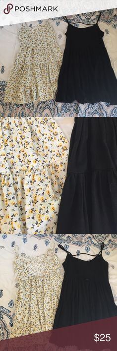 Jaida Dress Lookalike Bundle Yellow: from h&m. Size: 32. Perfect condition used. Black: Charlotte Russe. XS. Perfect condition used! Look like Jaida dresses from Brandy Melville H&M Dresses Mini