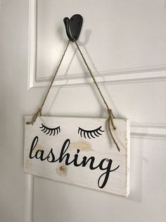 Lashing Wood Sign Eyelashes Sign Salon Decor Salon Wood - April 20 2019 at