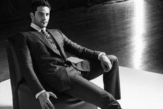 Brant Daugherty in a Giorgio #Armani suit and tie