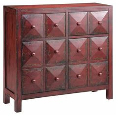 Cabinets Accent Cabinet w/ Pyramid Block Facings by Stein World - Baer's Furniture - Occasional Cabinet Miami, Ft. Lauderdale, Orlando, Sarasota, Naples, Ft. Myers, Florida