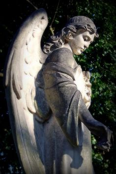 **An Angel in Warriston cemetery, Edinburgh.
