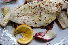 fillet of sole with lemon, fenugreek, and radicchio