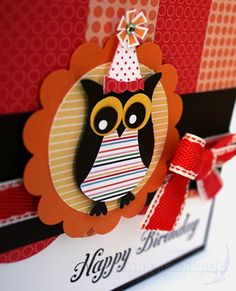 Oh how I'm loving the new Just Add Cake Designer Series Patterned Paper. Here, I've paired it with some of my favourite punches. The owl's...