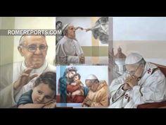 ▶ El Papa agradece a una pintora argentina los retratos de su pontificado - YouTube
