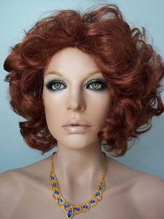 Gaga Wig: Drag Wig, Lady Gaga, Auburn Red