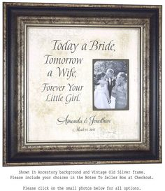 Personalized Wedding Frame Sign with TODAY by PhotoFrameOriginals