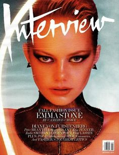 Emma Stone looks fierce on the cover of Interview Magazine