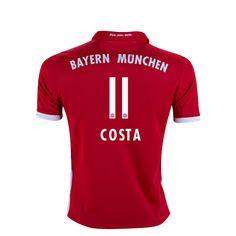 Bayern Munich 16/17 COSTA Youth Home Soccer Jersey      $99.44   Holiday Gift & Stocking Stuffer ideas for the FC Bayern Munich fan at WorldSoccerShop.com