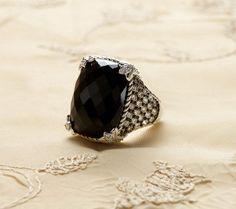 Judith Ripka Sterling Gemstone & Diamonique Monaco Ring — QVC.com