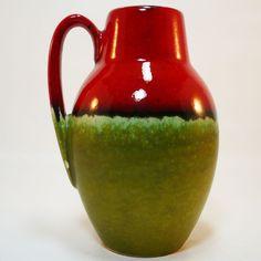 West German Pottery Vase • Scheurich 414 • Mid Century Pottery • Fat Lava