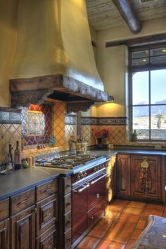 Love this oven and the exaust. And the tile. And the cabinets