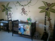 Wall Decals monkey decal nursery jungle decals by ModernDecals