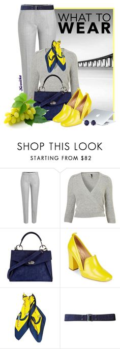 """""""nr 1606 / Cold Summer Wave"""" by kornitka ❤ liked on Polyvore featuring Carven, Proenza Schouler, Bill Blass, Hermès, MARC CAIN, Dyson, Effy Jewelry and WorkWear"""
