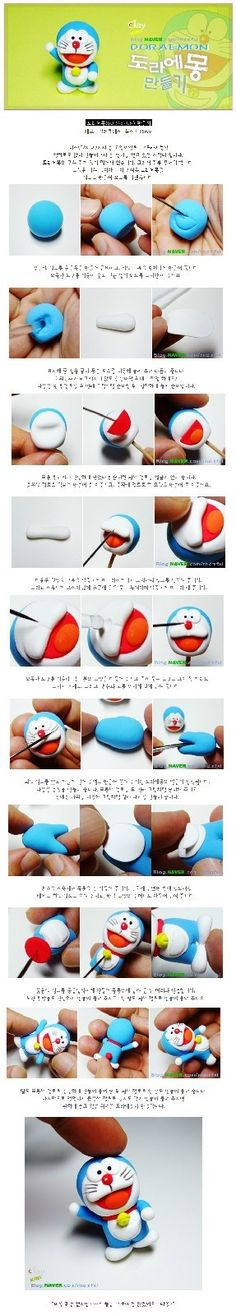 Doraemon figurine tutorial