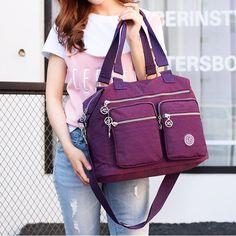 Women Handbag Large Capacity Casual Messenger Bags Women Nylon Waterproof Vintage Crossbody Shoulder Bag