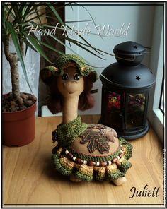 """Кофейная черепашка """"Милена"""" - коричневый,ароматизированная кукла,ароматизированная игрушка"""