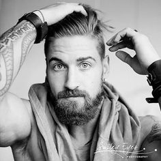 Perfect Beard, Beard Love, Beard Styles For Men, Hair And Beard Styles, Moustaches, Beard Tips, Beard Ideas, Tapered Beard, Travis Deslaurier