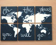 Oh all the places you'll go- on a world map
