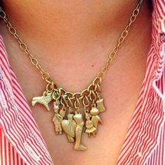 DIY Necklace with Milagros charms.