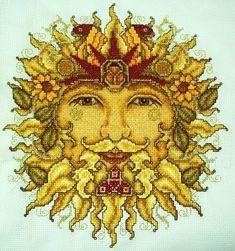 Sun God Cross-Stitch by ~HaleyGeorge on deviantART