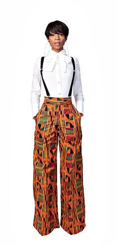 Teri -Pants. African Print Pants. Cotton. Side zipper. Pockets. Ankara | Dutch wax | Kente | Kitenge | Dashiki | African print bomber jacket | African fashion | Ankara bomber jacket | African prints | Nigerian style | Ghanaian fashion | Senegal fashion | Kenya fashion | Nigerian fashion | Ankara crop top (affiliate)