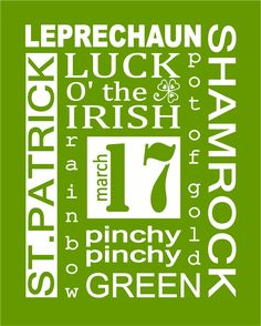 Today's Fabulous Finds: St. Patricks Day Subway Art Prints