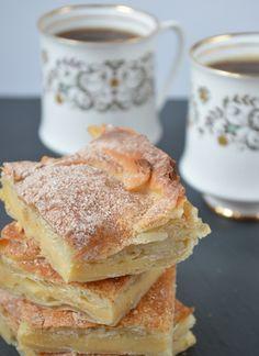 East Med Food Recipe fo Bougatsa - sweet custard filo pastry tart