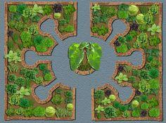 Keyhole garden beds sketch