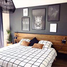 Bedroom Bed Design, Home Decor Bedroom, Modern Bedroom, Bedroom Wall, Bedroom Furniture, Living Room Decor, Bedroom Ideas, Scandi Bedroom, Bedroom Wardrobe