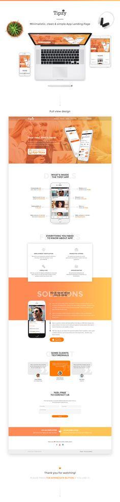 Ознакомьтесь с моим проектом в @Behance: «App Landing Page» https://www.behance.net/gallery/44585807/App-Landing-Page